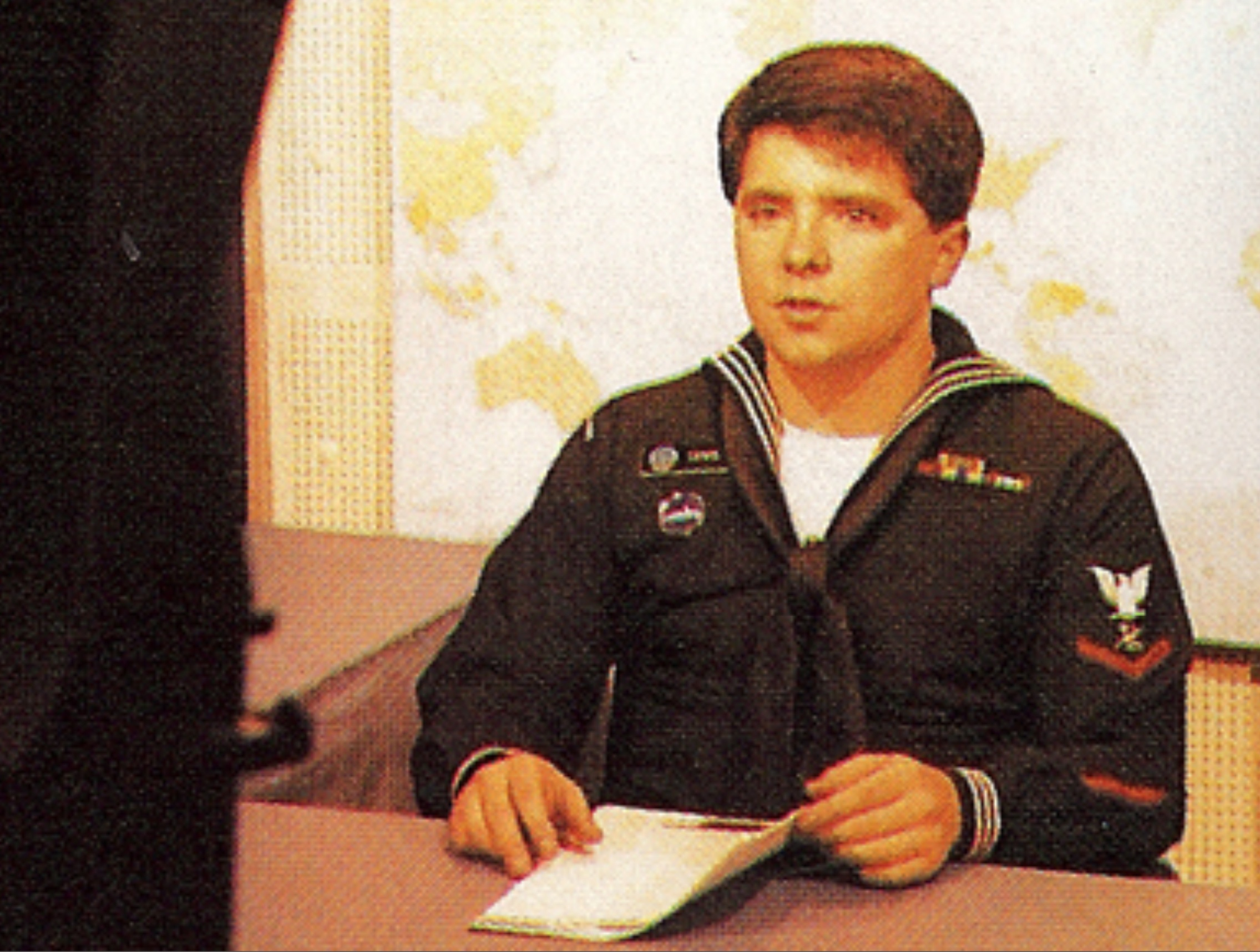 Tim Lewis at Navy News Desk